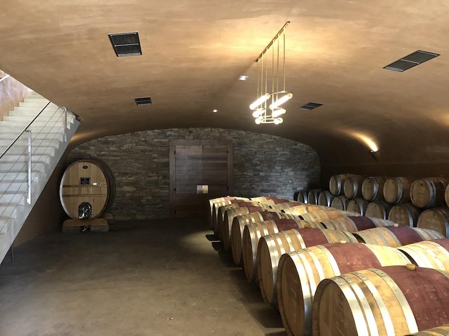 Cave à vin bandol, installation de lumière